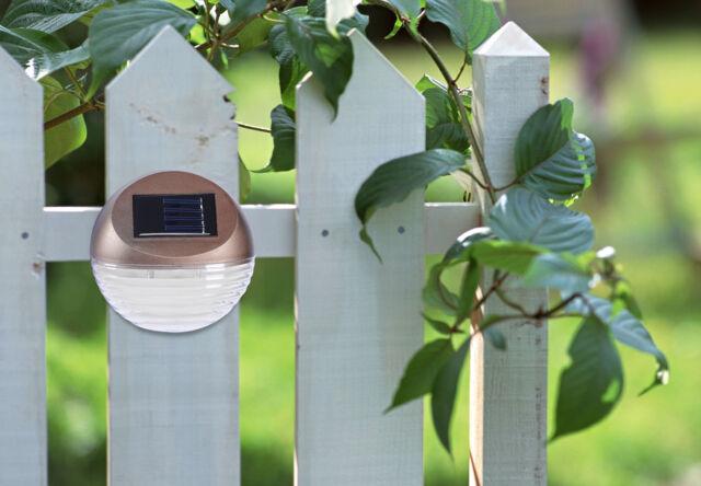 New 4x Outdoor Waterproof Solar Fence Light Path Wall Gutter Landscape LED Light