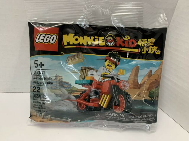 NEW LEGO Monkie Kid's Delivery Bike Set 30341 Sealed Unopened Polybag in hand