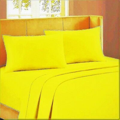 1000tc Egyptian Cotton Bedding Duvet Collection All Size Orange Solid