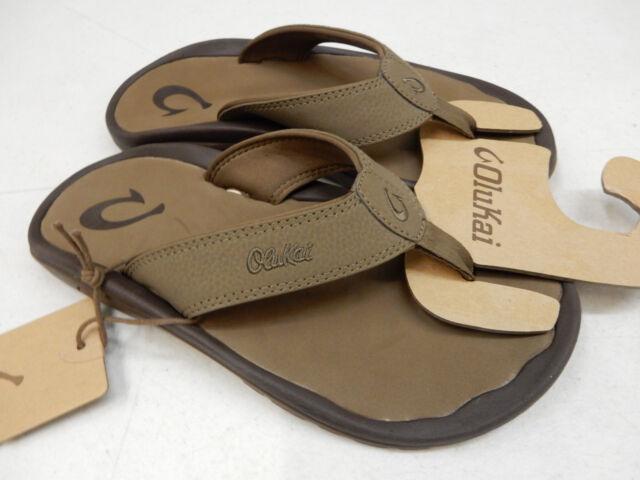 92a40781e7 OluKai Men's Brown Mustang Ohana Sandals Flip Flop Size 10 for sale ...