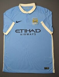 5 5 MANCHESTER CITY 2015-2016 ORIGINAL FOOTBALL HOME JERSEY SHIRT ... 48d261bdd