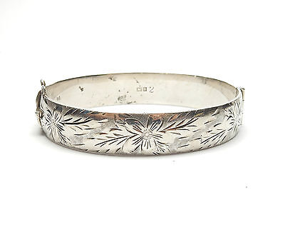 Vintage Bangle Size- 2.4 Inches Beautiful Bohemian Laurel Bangle Antique Silver Charm Bangle KB-103 925 Solid Sterling Silver