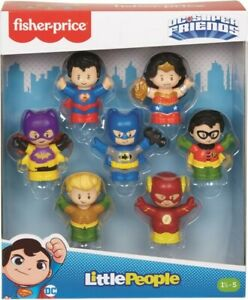 NEW Fisher Price - Little People DC Super Friends 7 Pk Figures from Mr Toys