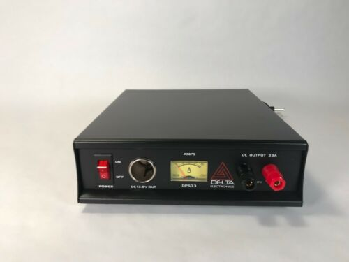 DELTA DPS33 33 Amp 12-13.8v AC//DC Power Supply w// Volt AMP Meter Ham CB Radio