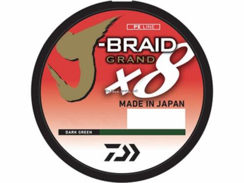 Bobine 150 Yd environ 137.16 m vert foncé JBGD 8U30-150DG NEW Daiwa J-Tresse Grand 8X 30 lb environ 13.61 kg