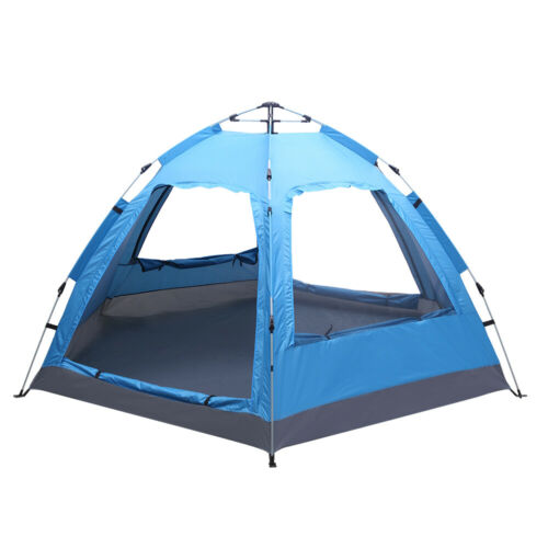 3-4 Person Automatic Family Tent Instant Pop Up Waterproof for Camping Hiking T