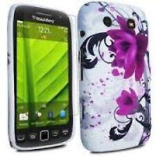 Blackberry Torch 9860 Mobile Phone Gel Cover Skin White Flowers Stocking Filler