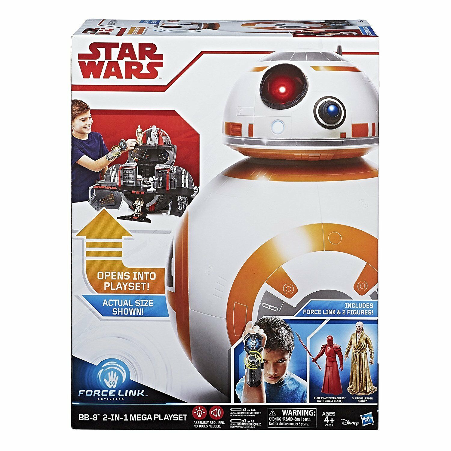 Star Wars BB-8 2-in-1 Mega Playset Force Link Activated Brand New Sealed