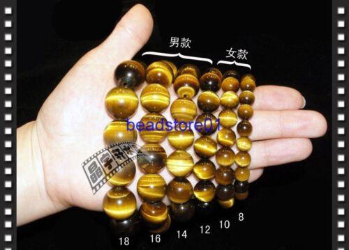 1strand Natural Gemstone tiger/'s-eye Round Bead Strand 15.5 4//6//8//1012//14MM