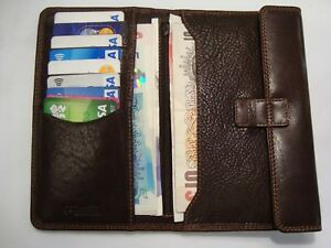 Men-s-Soft-Leather-Wallet-Large-Tall-With-Coin-Pocket-Brown-Top-Brand-Golunski
