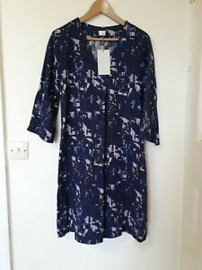 Poetry-Silk-Blend-Relaxed-Style-Abstract-Dress-Size-12