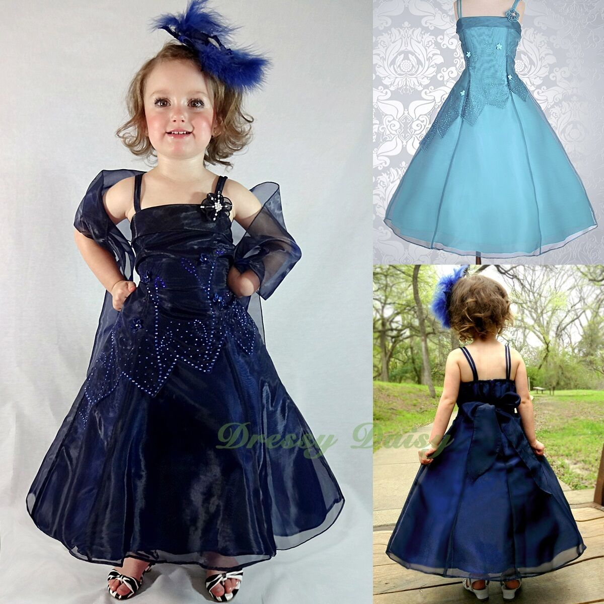 Formal Flower Girl Formal Dresses Wedding Bridesmaid Party Kid Size 2-10  FG188