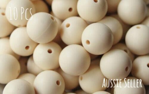 20 silicone beads JET BLACK 19mm round BPA free baby DIY sensory jewellery 20mm