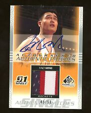 Yao Ming 2003 03 04 SP Game Used Auto Patch #45/50! China Houston Rockets
