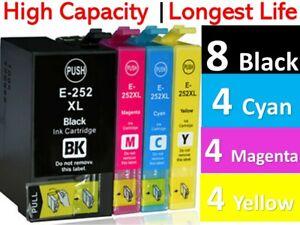 20x Generic 252XL Ink Cartridge for Epson Workforce WF3620 3640 7720 WF7710 7610