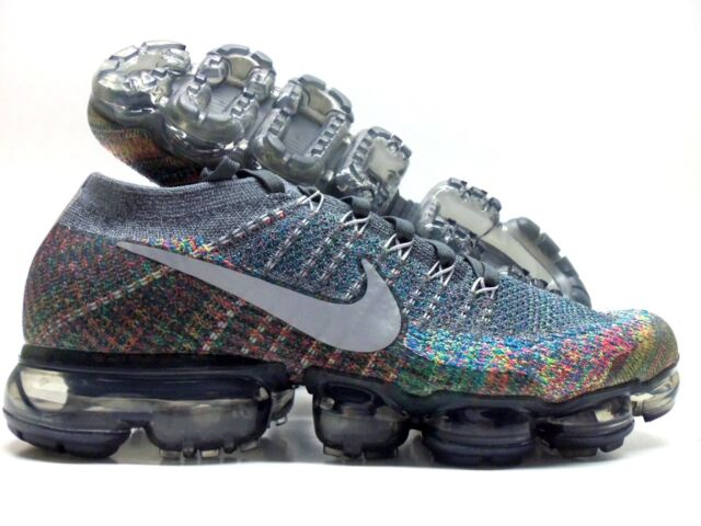 factory price d1eaa 58759 Nike Air Vapormax Flyknit Grey Multicolor Rainbow 849558-019 Size 10 US