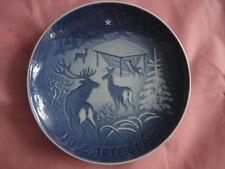 """Copenhagen Porcelain 1980,Jahresteller """"Christmas in the Woods"""",made in Denmark"""