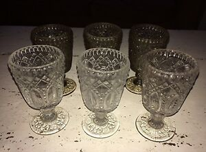LOVELY SET OF ANTIQUE VICTORIAN PRESSED WINE GLASSES - <span itemprop='availableAtOrFrom'>Greenford, United Kingdom</span> - LOVELY SET OF ANTIQUE VICTORIAN PRESSED WINE GLASSES - Greenford, United Kingdom
