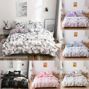 Bedding-Set-Soft-Marble-Duvet-Quilt-Cover-Bed-Pillow-Case-Twin-Full-Queen-King