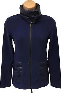 Pre-owned-Damas-Moncler-Grenoble-maglia-azul-abajo-chaqueta-chaqueta-tamano-XS-DI303