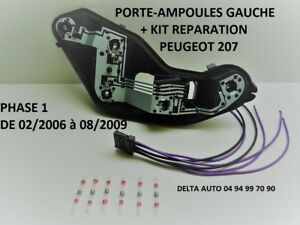 kit reparation connecteur platine porte ampoules peugeot 207 ph 1 gauche neuf ebay. Black Bedroom Furniture Sets. Home Design Ideas