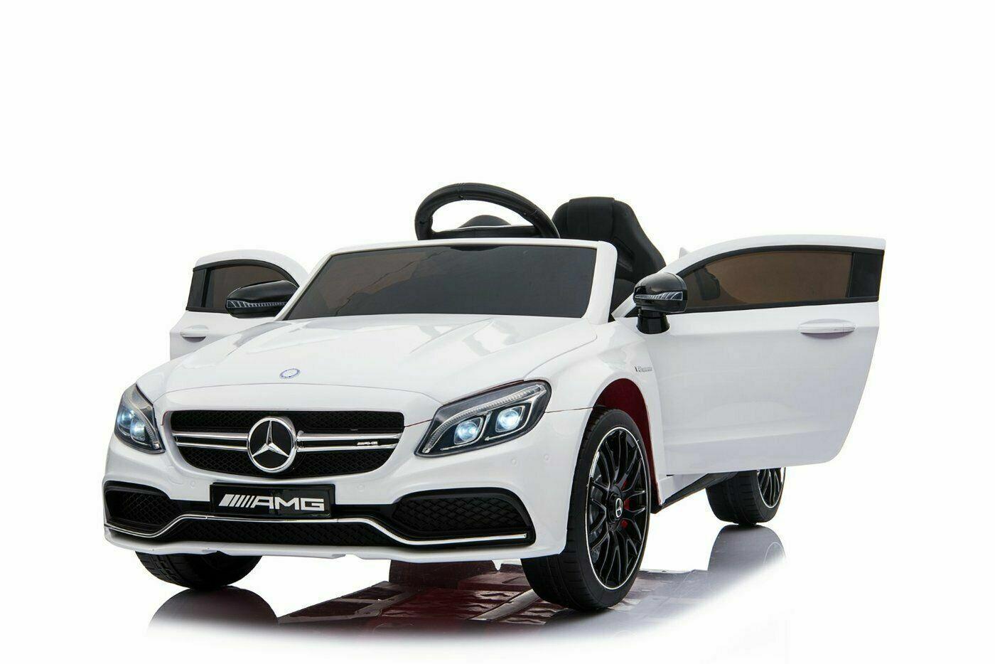 Mercedes c63 AMG 12v, control remoto a bordo de un cye infantil.