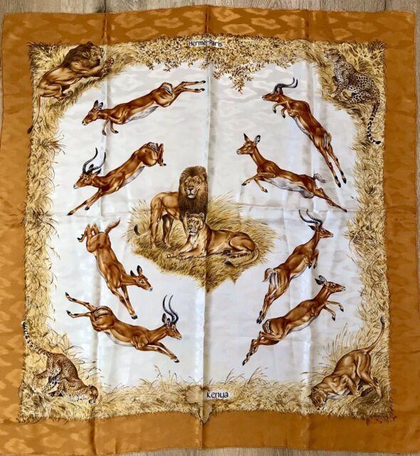 Hermes silk scarf 90 cm Kenya by Dallet, EUC