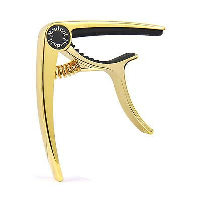 Meideal Capo10 Gold Quick Change Key Capo Clamp for Acoustic Electric Guitar