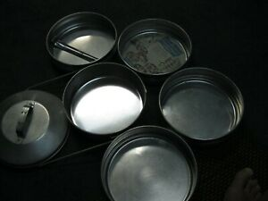 VINTAGE BUCKEYE ALUMINUM CO STACKABLE PICNIC CAMP MESS KIT SCOUTS COMPLETE NICE