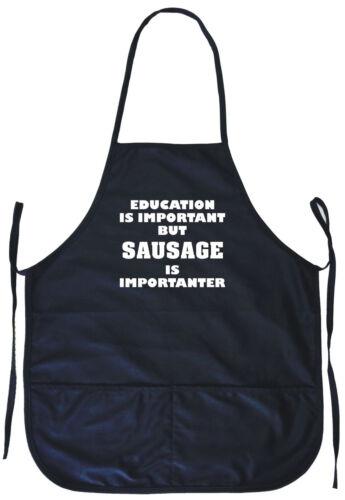 L/'éducation est importante mais saucisse est importanter Cuisson Tablier avec poches