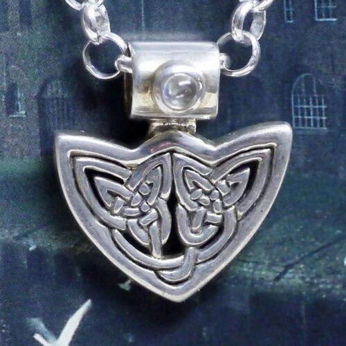 Peter Stone 925 Silber keltischer Triquettra Wicca Anhänger Mondstein Triquetra