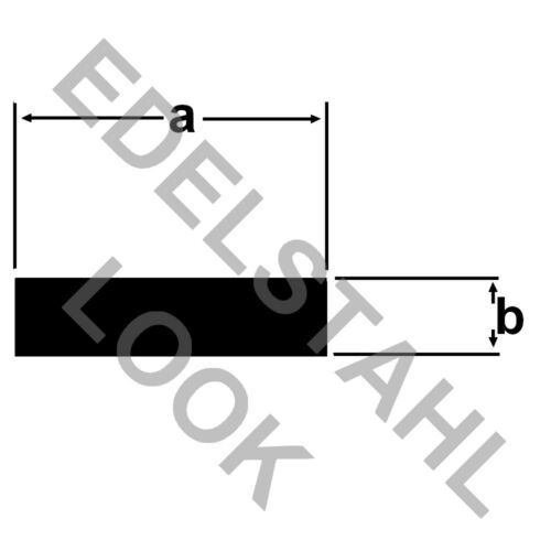 Aluminium Flat Bar 40x2mm Stainless Steel Look Aluminium 1m