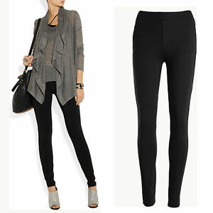 New-black-quality-mid-weight-stretchy-legging-style-skinny-pants