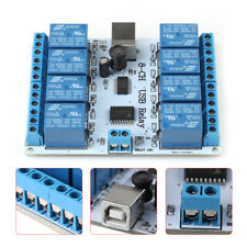 8 Channel 12vdc Type B Usb Relay Board Module Controller Automation Robotics