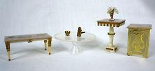 4 Tables Petite Princess Salon Coffee Clear Lyre Pedestal Fantasy Furniture 1964