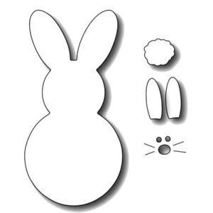 Bunny Frame Box Cutting Dies Embossing Stencils Cuts Machine Scrapbook Accessory
