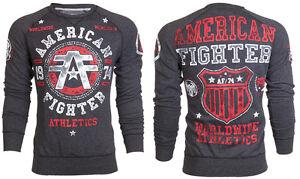 AMERICAN-FIGHTER-Men-Sweat-Shirt-DAVENPAINT-Athletic-BLACK-Biker-Gym-MMA-78