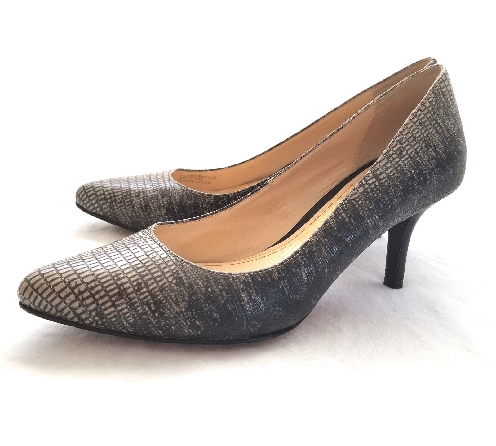 328 Cole Haan Women's Chelsea Low Pump Python Print Dress shoes 7 NEW IN BOX