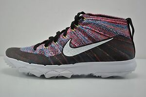 Image is loading Mens-Nike-Flyknit-Chukka-Golf-Shoes-Size-7-