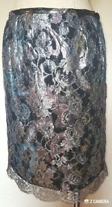 4 Silver Couture Judy Hornby Floral Skirt Misura HqcfvpvaBw