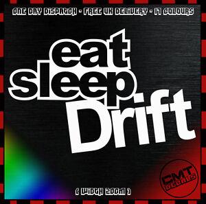 SincèRe Eat Sleep Drift Voiture Autocollant Pare-chocs Nouveauté Autocollant Jdm Dub Euro Race - 17 Couleurs-afficher Le Titre D'origine Mode Attrayante
