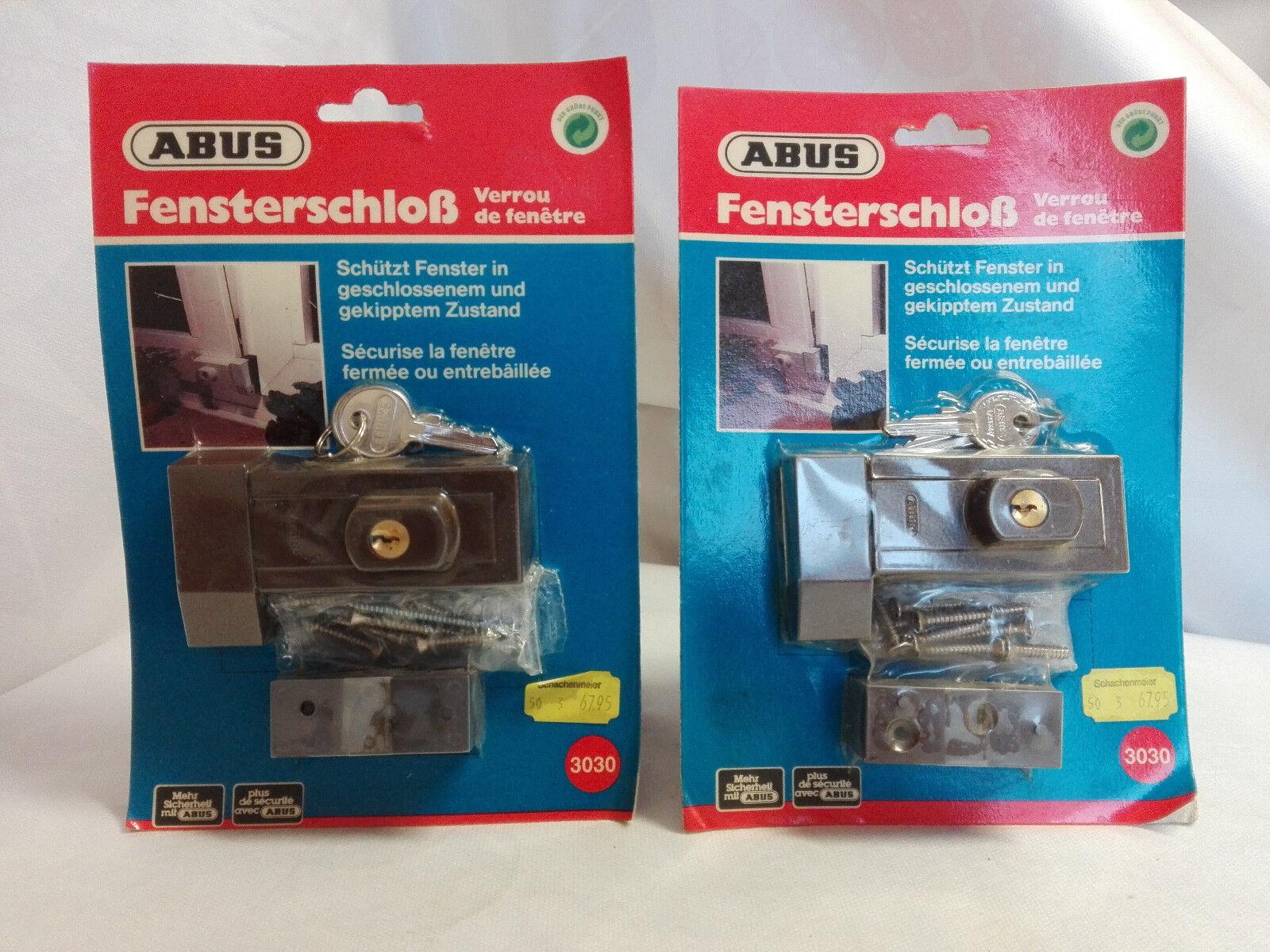ABUS Fensterschloß 3030 braun hohe Sicherheit Neu und OVP Paketpreis möglich