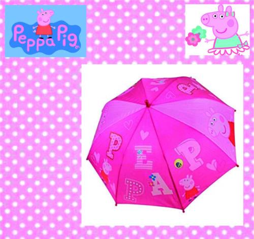 84cm Peppa Pig Wutz Schirm Regenschirm halbautomatisch Kinder Disney ca