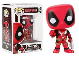 Marvel Deadpool #112 Deadpool Blue Thumb Up /& Gun Funko POP