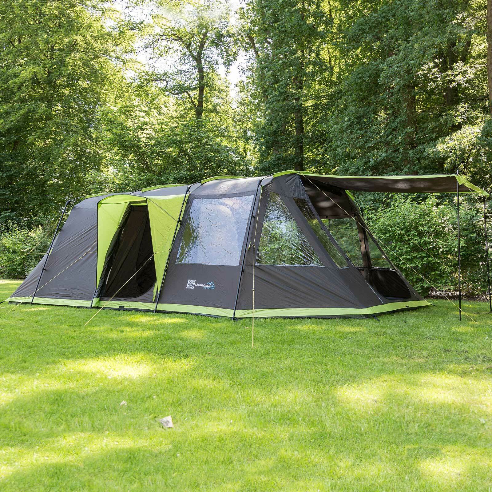 SKANDIKA NORDLAND 6 personne homme famille tente cousu dans sol Camping anthrazite New