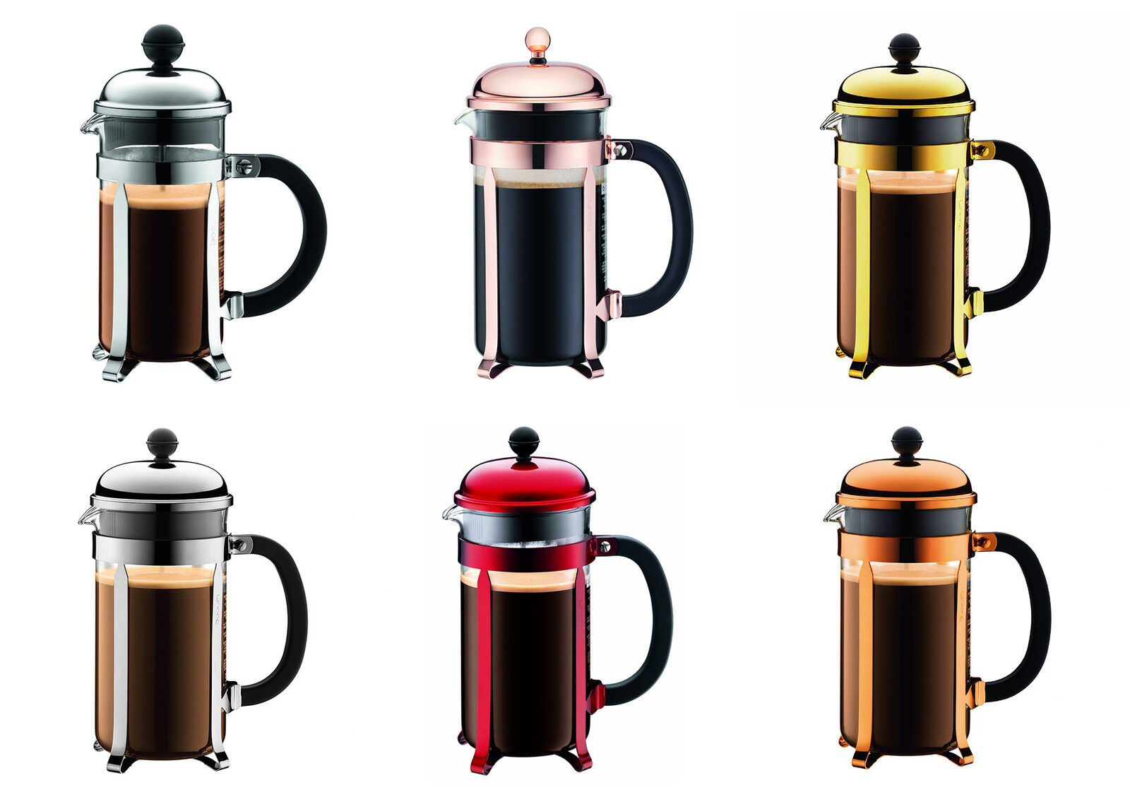 bodum chambord classic french press coffee makers 6 colors ebay. Black Bedroom Furniture Sets. Home Design Ideas