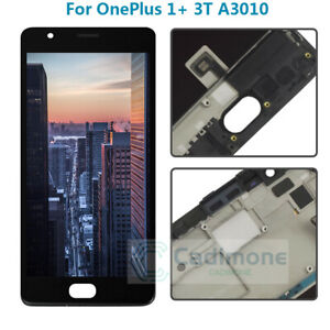 For-Oneplus-1-3-3T-A3010-LCD-Display-Touch-Screen-Digitizer-Assembly-Frame