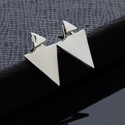 1PC New Fashion Women Gold/Silver Plated Asymmetric Triangle Earrings Ear Stud