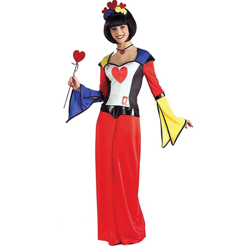 Dame de coeur déguisement robe droite Couleurée taille unique