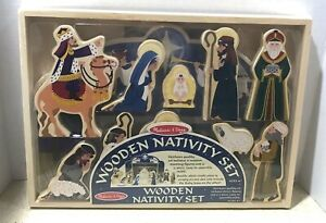 Details About New Melissa Doug Wooden Nativity Set Includes Stable And 11 Figures